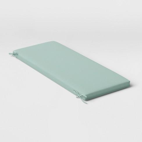 Woven Outdoor Bench Cushion Duraseason Fabric Aqua Threshold Target
