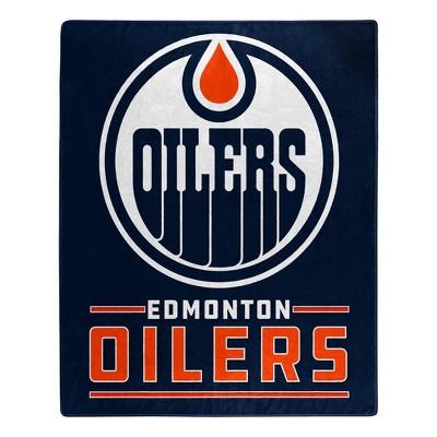NHL Edmonton Oilers Throw Blanket