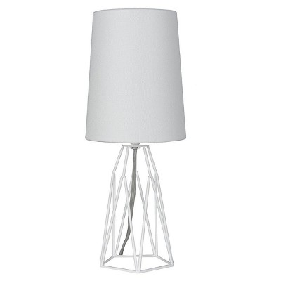 Accent Table Lamp with Metal Wire White - Mastercraft Intl