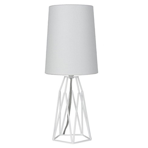 Accent Table Lamp With Metal Wire White Lamp Only Mastercraft