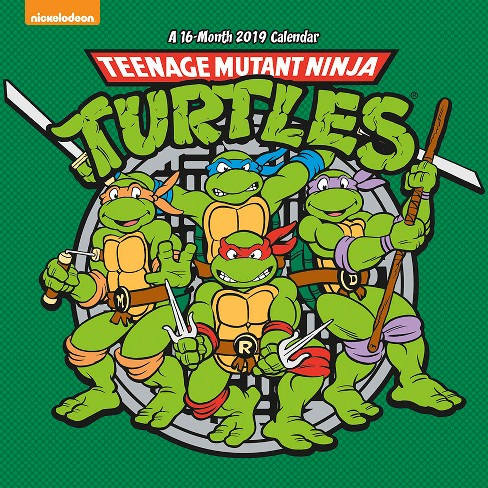2019 Wall Calendar Teenage Mutant Ninja Turtles - Trends International - image 1 of 4