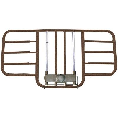Drive Medical 15208BV Half Length Adjustable Width Thick Steel Home Bed Side Rail for Medical Beds, Hospitals, and Nursing Homes, Brown