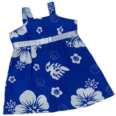 Doll Clothes Superstore Blue Hawaiian Style Sundress With Purse Fits 15-16 Inch Baby Dolls