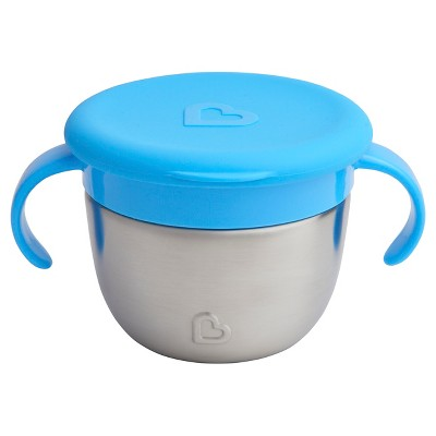 Munchkin Snack+™ Stainless Steel Snack Catcher® with Lid - Blue