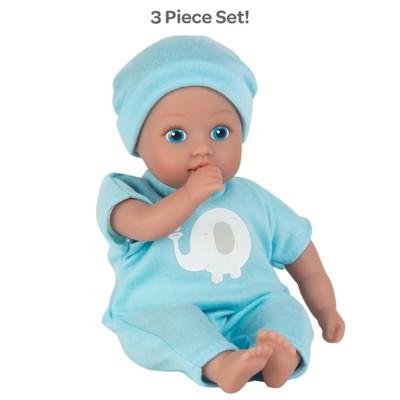 Adora Soft Baby Doll Boy Baby Tot Elephant Dreams 8.5 Mini Vinyl Doll, Cuddly Weighted Body, Blue Eyes