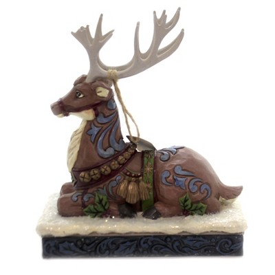 "Jim Shore 7.5"" Calm Before The Eve Victorian Reindeer  -  Decorative Figurines"