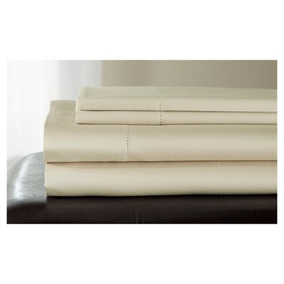 Queen 500 Thread Count Andiamo Cotton Sheet Set Taupe
