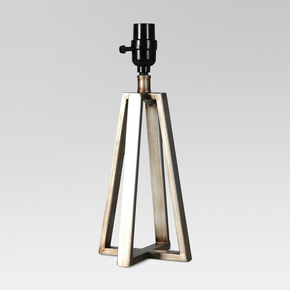Image of Linear Small Lamp Base Silver - Threshold