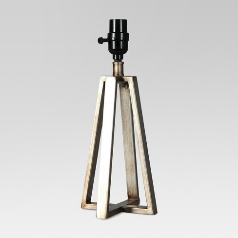 Linear Small Lamp Base Silver - Threshold™ - image 1 of 1