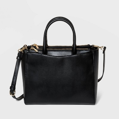 Triple Compartment Satchel Handbag - A New Day™