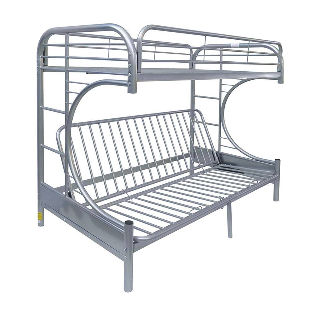 Twin Over Full/Futon Eclipse Bunk Bed Silver - Acme