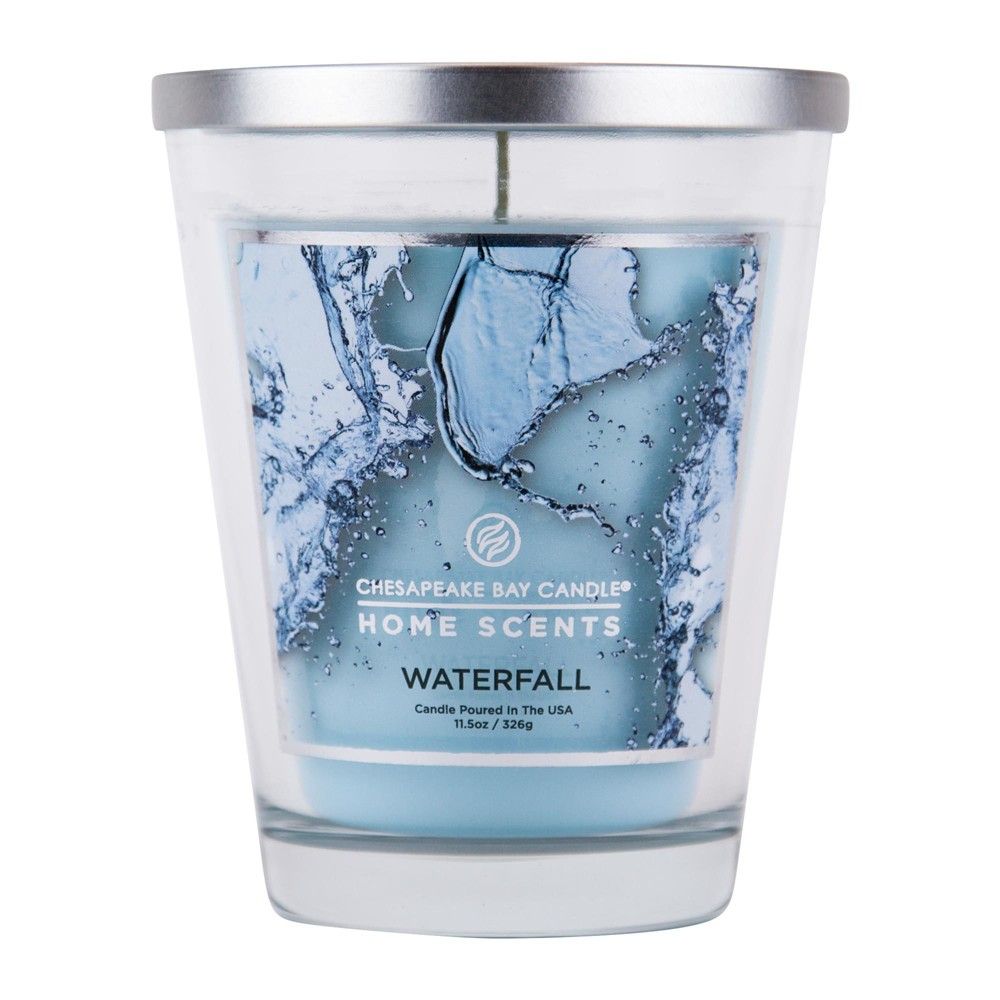 Image of 11.5oz Lidded Glass Jar Candle Waterfall - Home Scents By Chesapeake Bay Candle