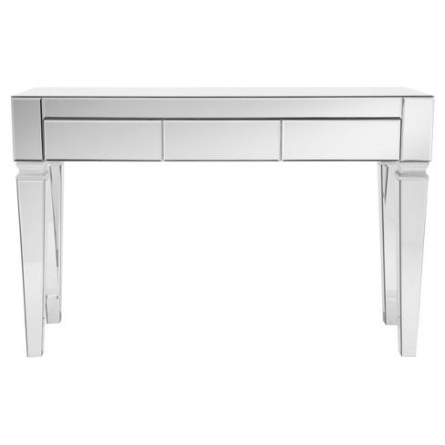 Darla Contemporary Mirrored Console, Contemporary Mirrored Console Table