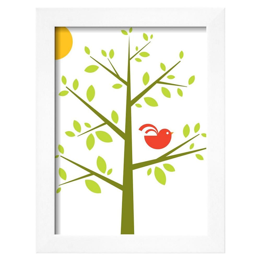 Art.com Songbird Framed Art Print, Green