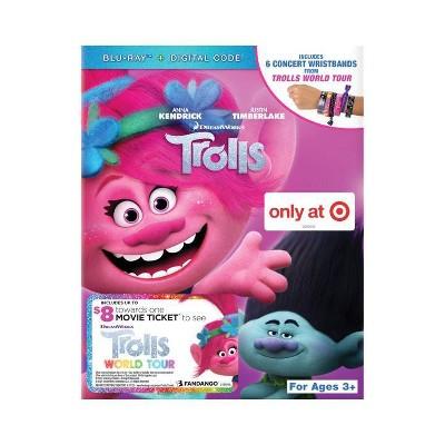 Trolls - Wristbands (Target Exclusive) (Trolls World Tour Movie Cash) (Blu-ray + Digital)