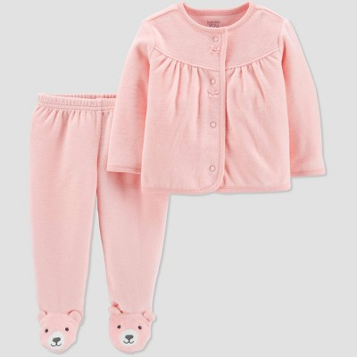 Baby Girls' 2pc Top & Bottom Set - Just One You® made by carter's 3M Pink