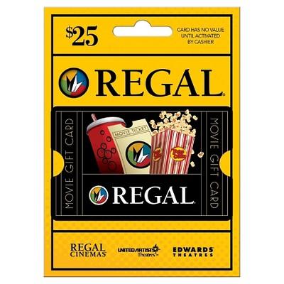 Regal Cinemas Gift Card - $25