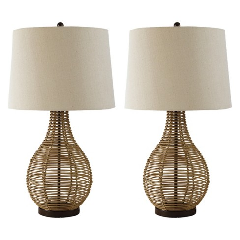 Erwin Rattan Table Lamp Brown (Lamp Only) - Signature Design by Ashley - image 1 of 3