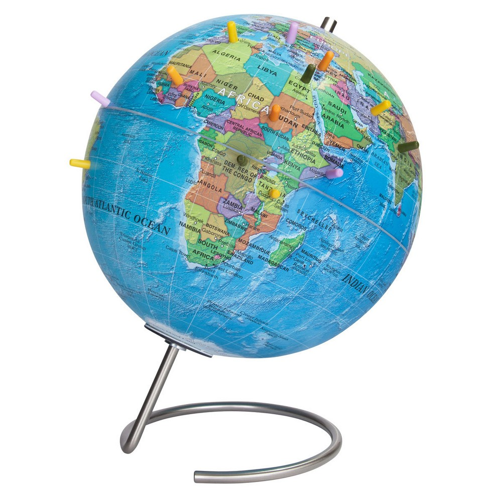 "Image of ""9"""" Magnetic World Globe with Pins - Waypoint Geographic"""
