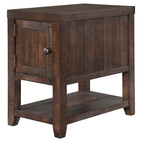 Caitlyn Rectangular Chairside Table Distressed Natural - Magnussen Home - image 1 of 1