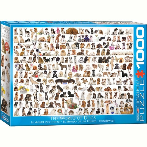 Eurographics Inc. The World of Dogs 1000 Piece Jigsaw Puzzle - image 1 of 3