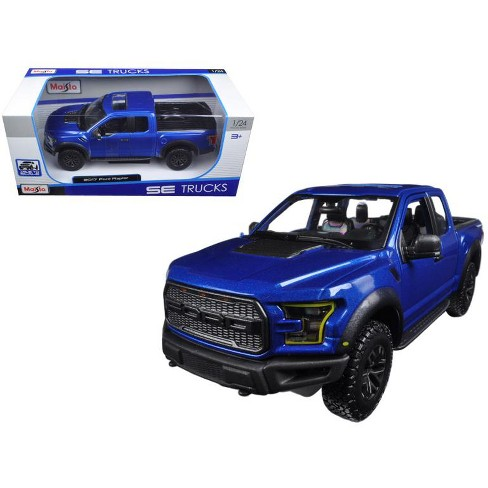 2017 Ford Raptor Pickup Truck Blue 1 24 Cast Model Car By Maisto