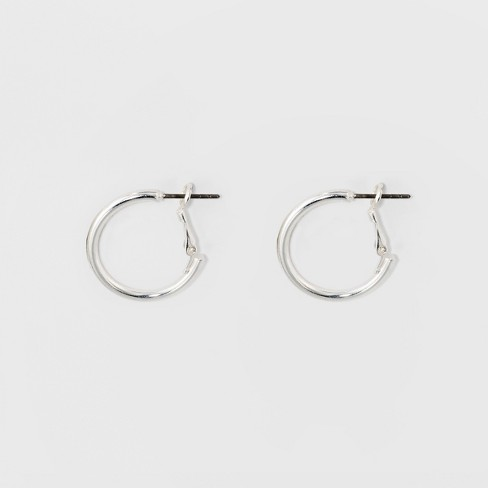 Hoop Earrings - A New Day™ Silver - image 1 of 1