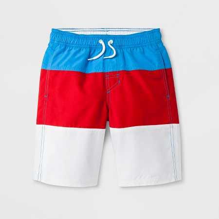 7173c6e9d8264 Boys' Stripe Volley Swim Trunks - Cat & Jack™ Orange M Husky : Target