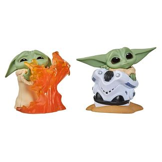 Star Wars The Bounty Collection Series 2 The Child Toys Helmet Hiding Pose, Stopping Fire Pose 2-Figure Pack