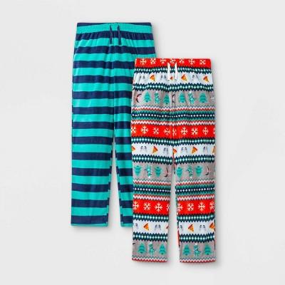 Boys' 2pk Fair Isle & Striped Pajama Set - Cat & Jack™ Green