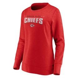 NFL Kansas City Chiefs Women's Distressed Throwback Fleece T-Shirt