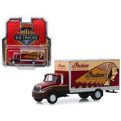"International Durastar Box Van ""Indian Motorcycle"" ""H.D. Trucks"" Series 17 1/64 Diecast Model by Greenlight"