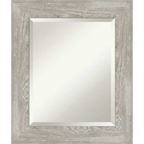 22 X 26 Dove Graywash Framed Bathroom Vanity Wall Mirror Amanti Art Target