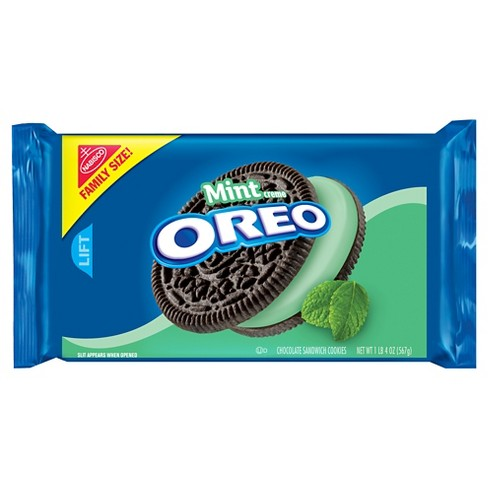 Oreo Mint Creme Chocolate Sandwich Cookies - Family Size - 20oz - image 1 of 1
