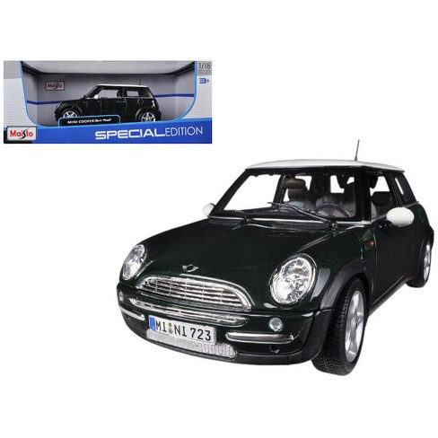 mini cooper with sunroof green 1/18 diecast model carmaisto : target