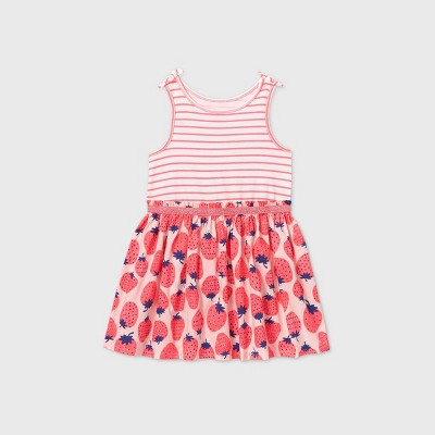 Toddler Girls' Tank Top Strawberry Dress - Cat & Jack™ Pink 12M