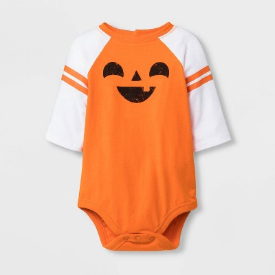 Baby Pumpkin Raglan Sleeve Bodysuit - Cat & Jack™ Orange 6-9M