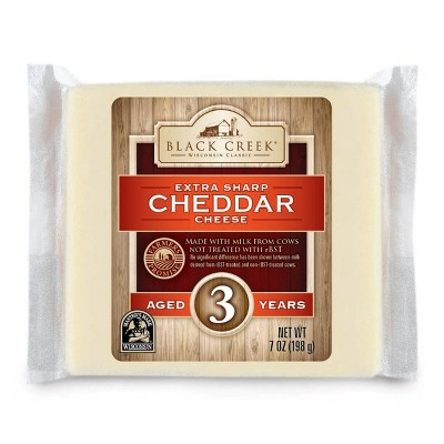 Black Creek Extra Sharp White Cheddar Cheese Aged 3 Years - 7oz