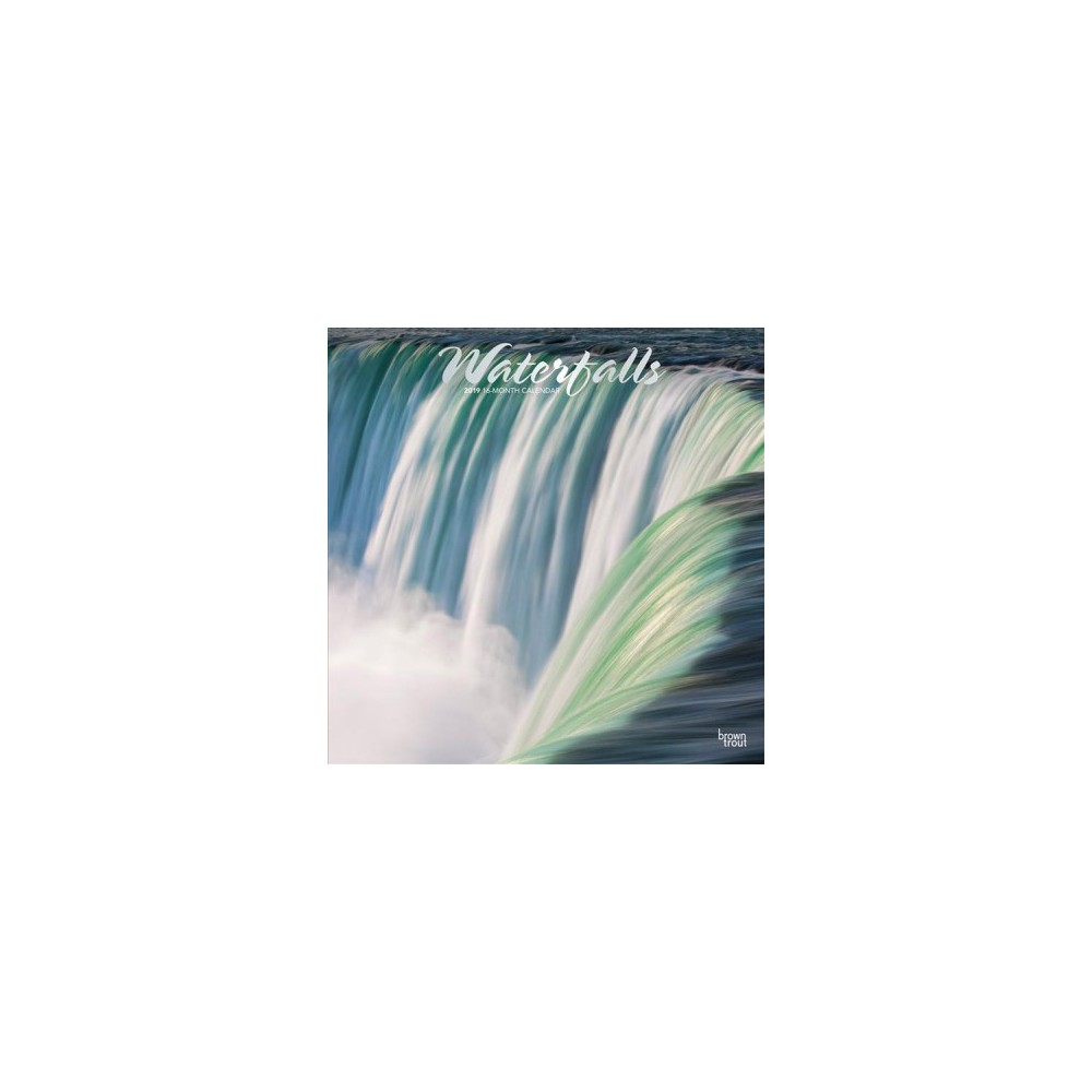 Waterfalls 2019 Calendar - (Paperback)