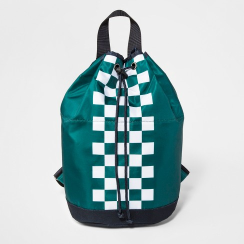 Boys' Checkered Backpack - art class™ Green - image 1 of 2