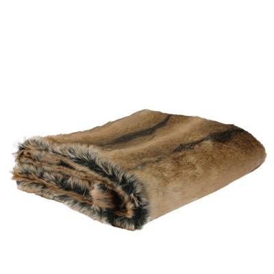 "Northlight 50"" X 60"" Faux Fur Soft Throw Blanket - Brown : Target"