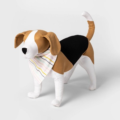 Pastel Striped Dog and Cat Matching Family Pajama Bandanna - Cream One Size