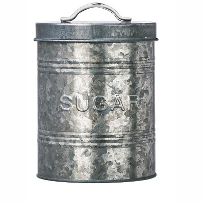 Amici Home Rustic Kitchen Metal Canister, Sugar, 76oz