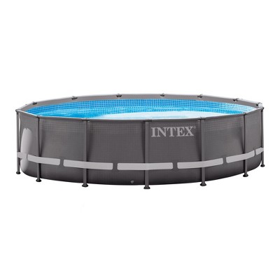 Above ground swimming pool Small Backyard About This Item Target Intex 14 42