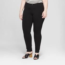 445776958fe Women s Plus Size Ponte Pants with Comfort Waistband - Ava   Viv™