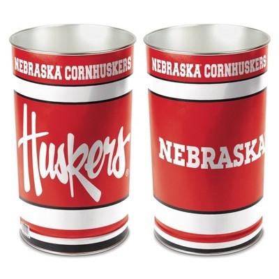 NCAA Nebraska Cornhuskers Tin Trash Can