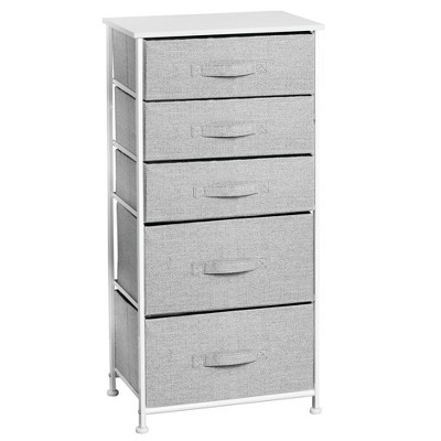 mDesign Vertical Dresser Storage Tower with 5 Drawers