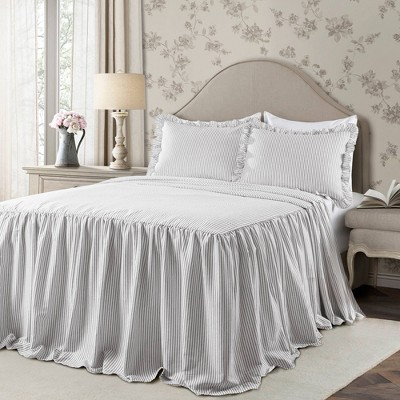 Ticking Stripe Bedspread - Lush Décor