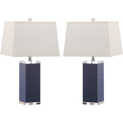 Piper Table Lamp (Set of 2)- Navy - Safavieh®