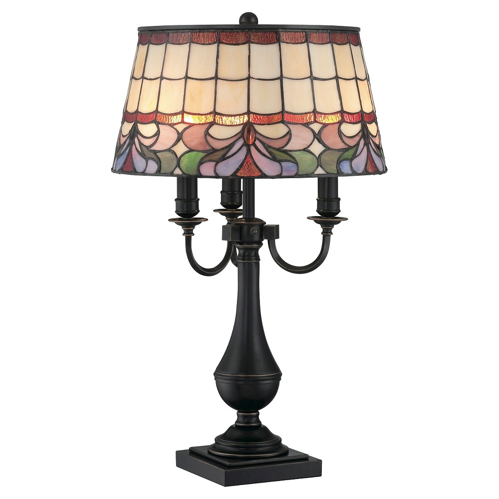 Thasos 3 Light Table Lamp - Dark Bronze, Brown/Multi-Colored